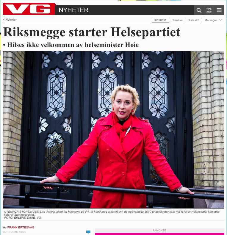 VG - Oktober 2016 Riksmegge starter