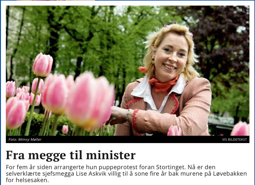 Dagsavisen: Fra megge til minister