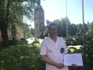 Samlet inn 600 underskrifter for å redde Ullevål sykehus