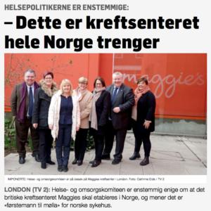 Maggies dette er kreftsenteret Norge trenger - Helsepolitikere er enstemmige