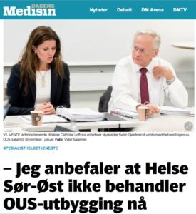 Cathrine Lofthus, direktør i Helse Sør-Øst anbefaler utsettelse av behandlingen av Oslosykehusenes fremtid