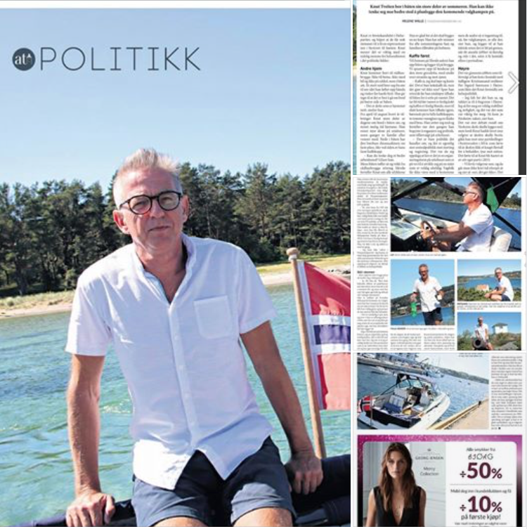 Stort profilintervju: Av Knut Tveiten i Arendals Tidende