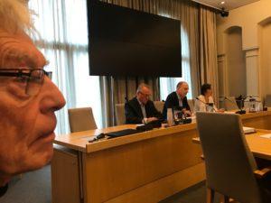 Rolf Kårsen på budsjetthøring for Folkebevegelsen for bevaring av lokalsykehusene, Sykehusaksjonene i Oslo og Redd Ullevål Sykehus