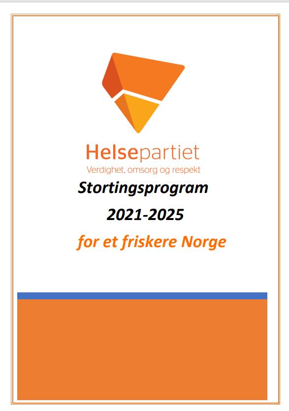 Helsepartiets stortingsprogram 2021-2025